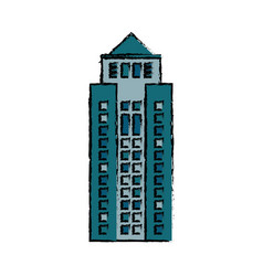 building structure facade icon vector image