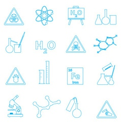 chemistry simple outline icons set eps10 vector image vector image