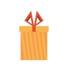colored gift box stripes ribbon present vector image
