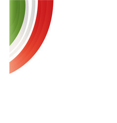 frame with flag of italy vector image vector image