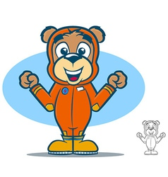 Jumpsuit Bear vector image vector image