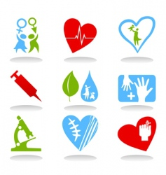 medical icons6 vector image vector image