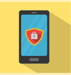 mobile phone under protection vector image vector image