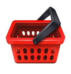 Red shopping basket icon 10eps vector image vector image