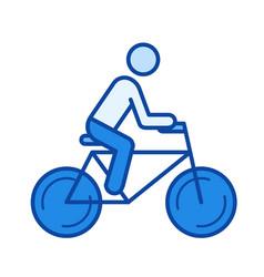 road bike line icon vector image vector image