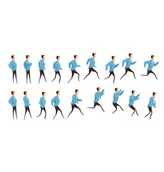 Running And Jumping Man Animation vector image vector image
