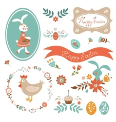 Beautiful Easter collection vector image