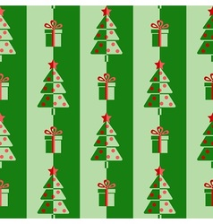 Christmas trees and gifts vector image vector image