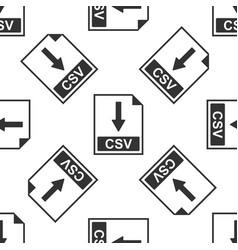 csv file document icon download csv button icon vector image