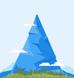 High Mountain Flat vector image vector image