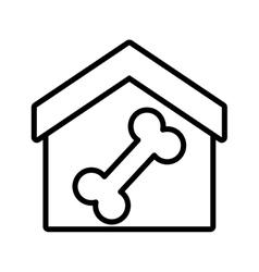 house pet food dog food outline vector image vector image