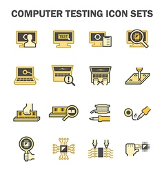 Pc test icon vector