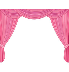pink curtains vector image vector image