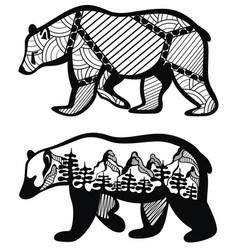 set of bears for your design vector image vector image