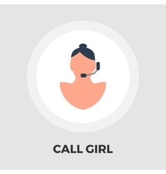 Call girl flat icon vector