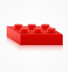 isometric colorful plastic building block vector image