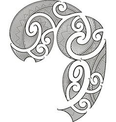 Maori tattoo design vector image vector image