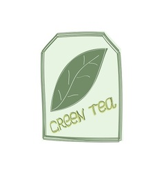 The tag of green tea vector image vector image