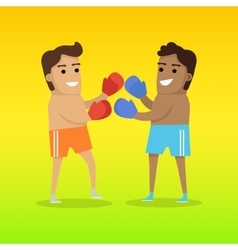 Two Man Boxing Sports Banner vector image vector image