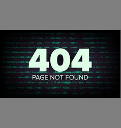 404 error page not found computer web vector image vector image