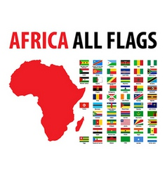 Africa all flags vector image