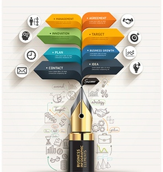 Business concept Pen and speech arrow template vector image vector image