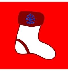 Christmas sock Seamless christmas pattern vector image vector image
