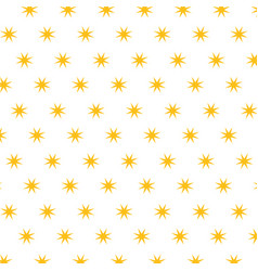 christmas stars golden decoration seamless pattern vector image