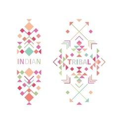 Tribal logo set on white background vector image