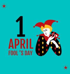 1 april fools day typography colorful vector image