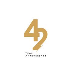 42 year anniversary logo template design vector