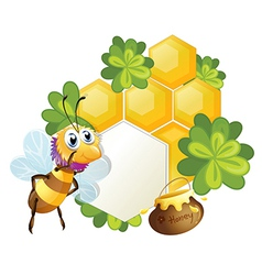 A unique border with a bee vector image