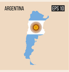 argentina map border with flag eps10 vector image