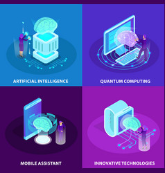 artificial intelligence 2x2 design concept vector image