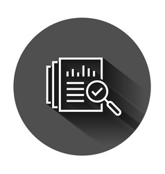 audit document icon in flat style result report vector image