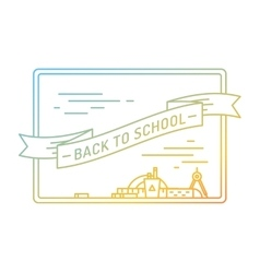 Back to school Education books university and vector image