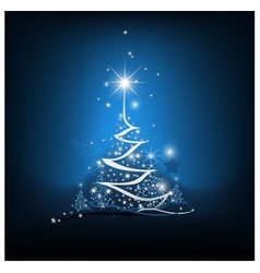 Beauty Christmas tree from light background vector image