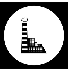 Black coal plant with chimney isolated black icon vector