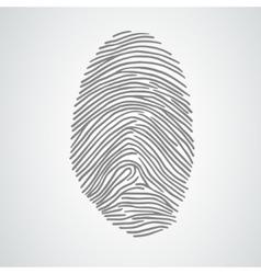 black isolated fingerprint on white vector image