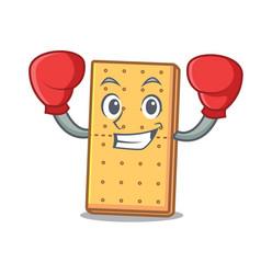 Boxing graham cookies character cartoon vector