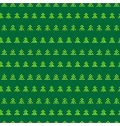 Christmas tree green seamless pattern vector image
