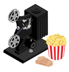 cinema movie concept retro cinema projector vector image