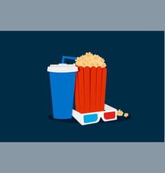 cinema time set vector image