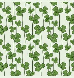 Clover seamless pattern swatch for fabric textile vector