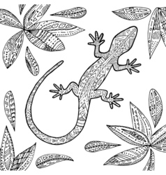 ColoringLizard2 vector image