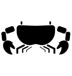 Crab the black color icon vector