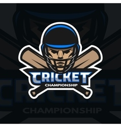 Cricket player and bats vector