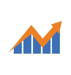 dynamic financial chart vector image