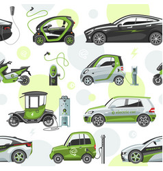 electric car with solar panels eco electro vector image