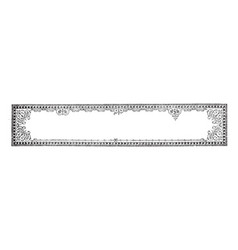 Filigree banner is a is an advertising image vector